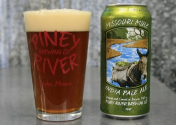 Missouri Mule IPA  brewed by Piney River Brewing in Bucyrus, Missouri