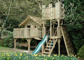 Treehouse with a playground