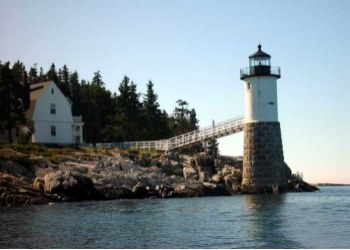 Robinson Point Lighthouse on the  Isle au Haut, Maine