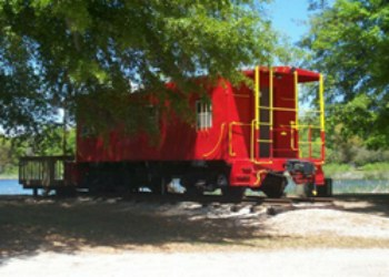 Caboose in Charleston KOA