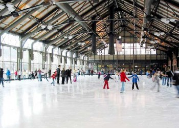 Ice Skating at the Depot Hotel in Minneapolis, MN