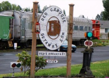 Red Caboose Getaway in Sequim, Washington