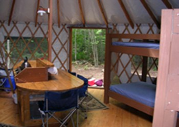 Falls Brook Yurts are located in the Vanderwhacker Region