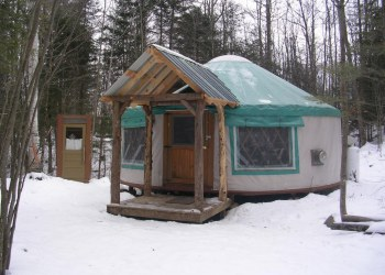Falls Brook Yurts are located in Minerva, New York