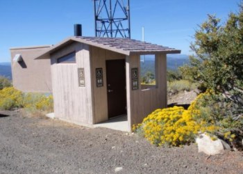 Black Mountain Lookout Outhouse