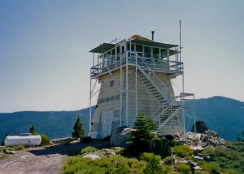Calpine Fire Lookout in the Sierra Nevada Mountains of Tahoe National Forest