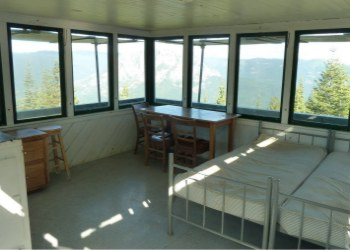 Girard Ridge Lookout - the interior