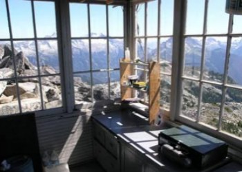 Hidden Lake Lookout Interior