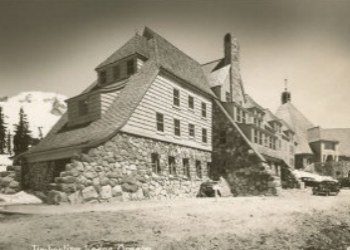 Timberline Lodge Exterior in the 1930s