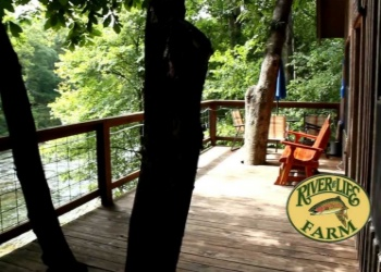River of Life Treehouse Porch overlooking the River
