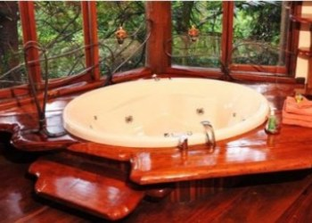 Secrets on the Lake Treehouse Bathtub