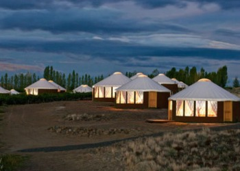 Yurts at Cave B Winery