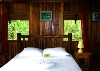 Bedroom in the Tree Houses Hotel  in the Rain Forrest of Costa Rica