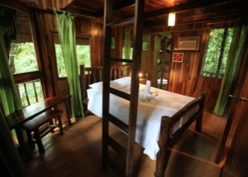 Sleeping at the Tree Houses Hotel  in  Costa Rica