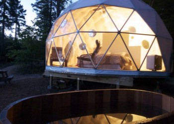 Rental Dome at Ridgeback Lodge in New Brunswick, Canada