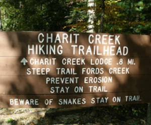 Charit Creek Trail Sign
