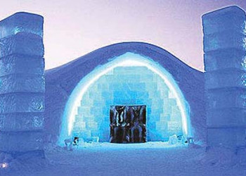 ICEHOTEL entrance in Sweden