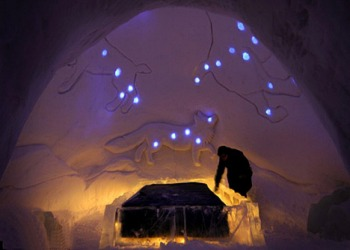 Bedroom in the SnowCastle
