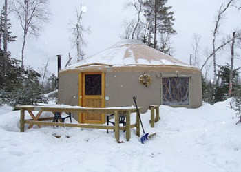 The Tall Pines Yurt in the Winter