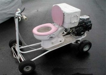 Electric Go Kart >> Odd, Unusual and Weird Bathrooms and Toilets from around the World -- Odd Inns & Uncommodations