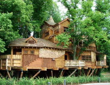 The Treehouse at the Alnwick Garden in Northumberland, England