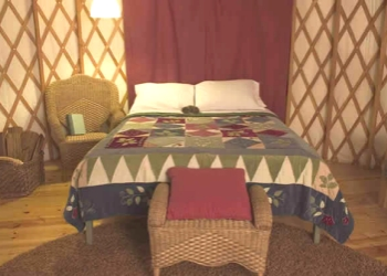 Bedroom at Treebones Resort