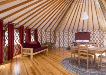 Yurt Living Area at Treebones Resort