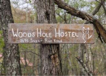 Wood's Hole Hostel Sign