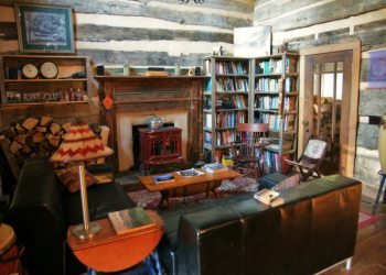Wood's Hole Living Room and Library