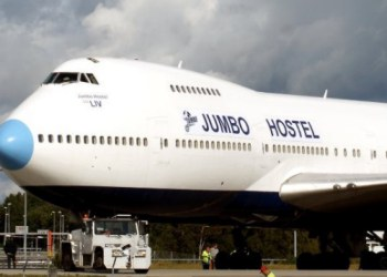 The 747 Jumbo Hostel in Sweden
