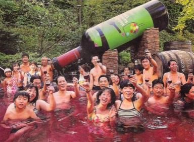 Wine Spa at the Yunessune Spa Resort in Japan