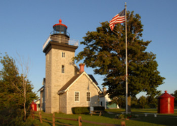 Thirty Mile Point Lighthouse In Golden Hill State Park Ny