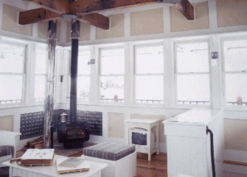 Interior of the Judith Mountain Fire Lookout