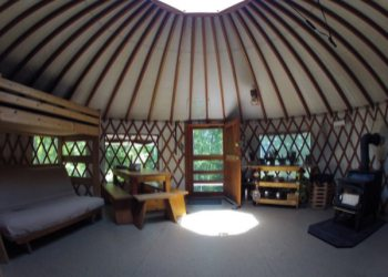 Frost Mountain Yurts in Brownfield, Maine