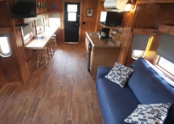 Interior of Railside Lodging's Ms. Chessie Caboose