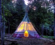 North Georgia Canopy Tours - Teepee Camping