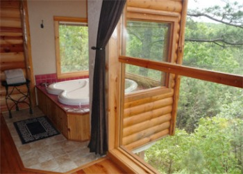 Arkansas  Treehouse Cottages Hottub