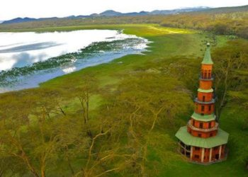 Hippo Point Dodo's Tower on the shores of Kenya's Lake Naivasha